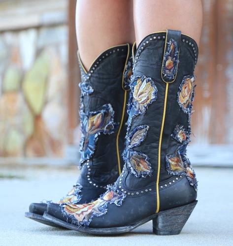 Old Gringo Carla Black Boots L3183-1 Heel