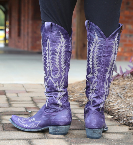 Old Gringo Mayra Bis Purple Boots L1213-21 Heel
