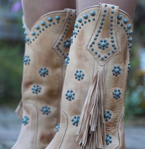 Old Gringo Savannah Straw Boots L3188-1 Fringe