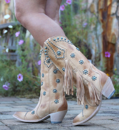 Old Gringo Savannah Straw Boots L3188-1 Walk
