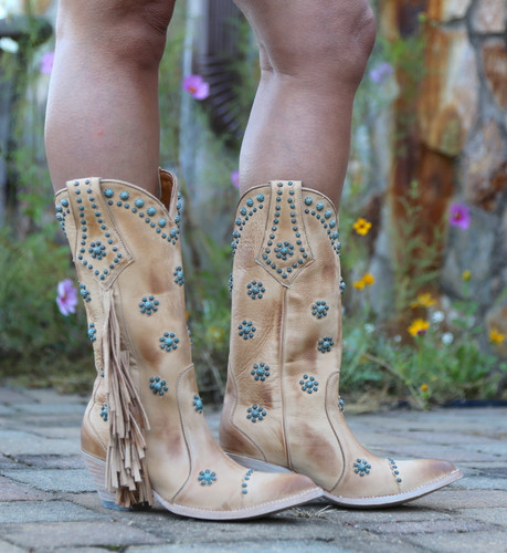 Old Gringo Savannah Straw Boots L3188-1 Image