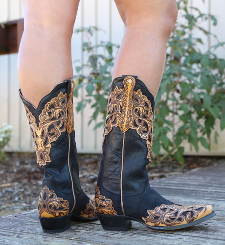 Yippee by Old Gringo Mackenzie Black Boots YL346-1 Heel