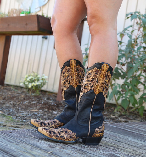 Yippee by Old Gringo Mackenzie Black Boots YL346-1 Picture