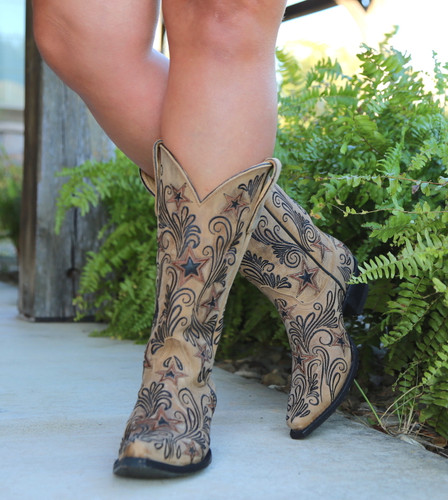 Yippee by Old Gringo Blaze Champagne Boots YL353-1 Image