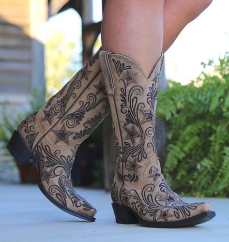 Yippee by Old Gringo Blaze Champagne Boots YL353-1 Front