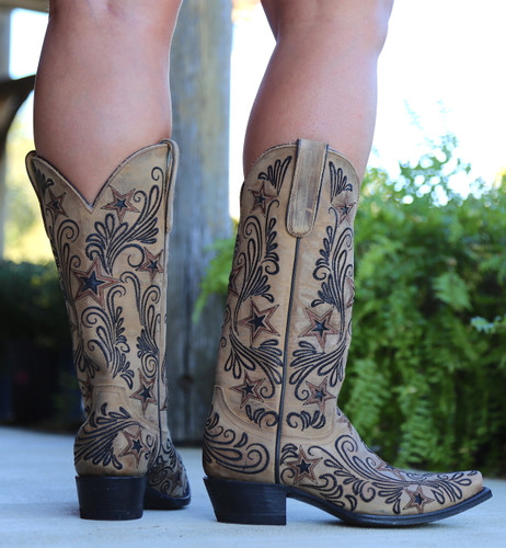 Yippee by Old Gringo Blaze Champagne Boots YL353-1 Heel