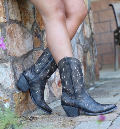Yippee by Old Gringo Reno Rustic Beige Black Boots YL361-1 Image