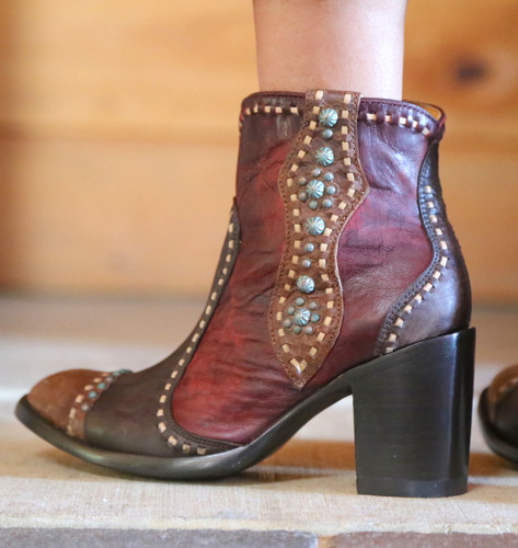 Old Gringo Cheryl Short Chocolate Boots BL3194-1 Detail