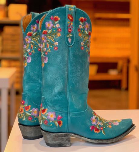 Old Gringo Sora Turquoise Boots L841-44 Heel