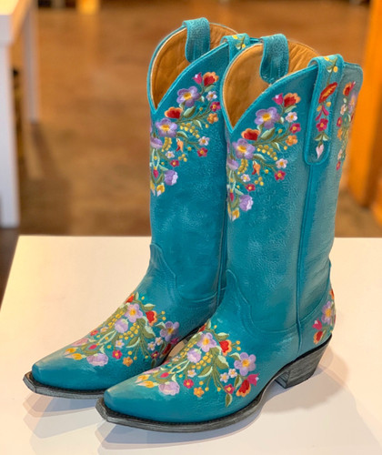 Old Gringo Sora Turquoise Boots L841-44 Toe