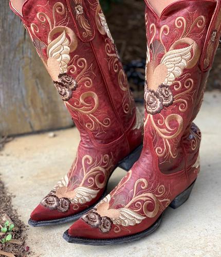 Old Gringo Grace Vesuvio Red Boots L639-3 Picture