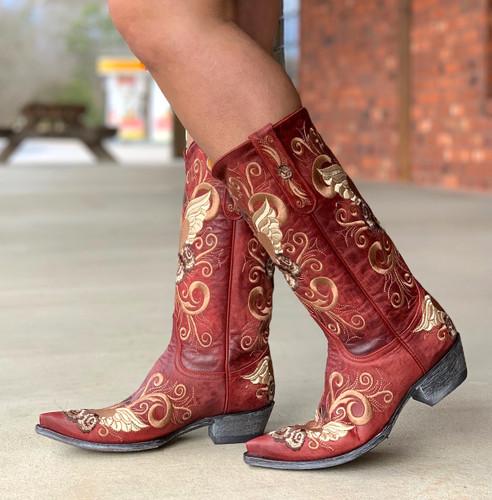Old Gringo Grace Vesuvio Red Boots L639-3 Walk