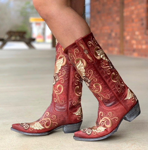 Old Gringo Grace Vesuvio Red Boots L639-3 Walk