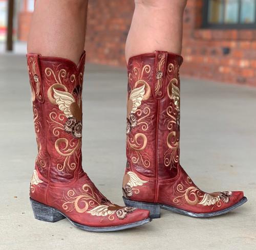 Old Gringo Grace Vesuvio Red Boots L639-3 Image