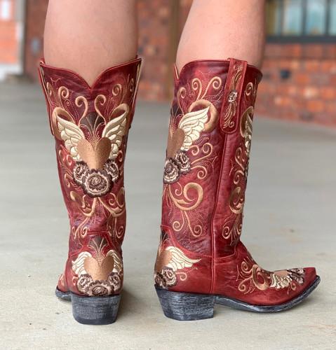 Old Gringo Grace Vesuvio Red Boots L639-3 Heel