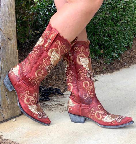 Old Gringo Grace Vesuvio Red Boots L639-3 Toe