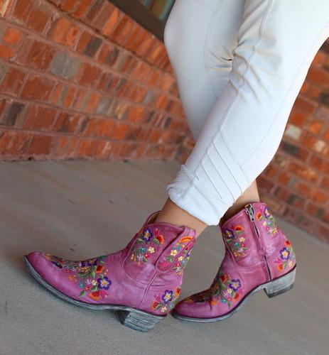Old Gringo Sora Zipper Pink Booties L871-64 Walk