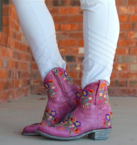 Old Gringo Sora Zipper Pink Booties L871-64 Image