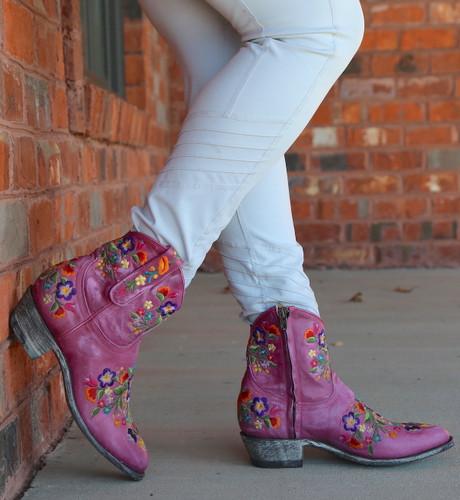 Old Gringo Sora Zipper Pink Booties L871-64 Photo