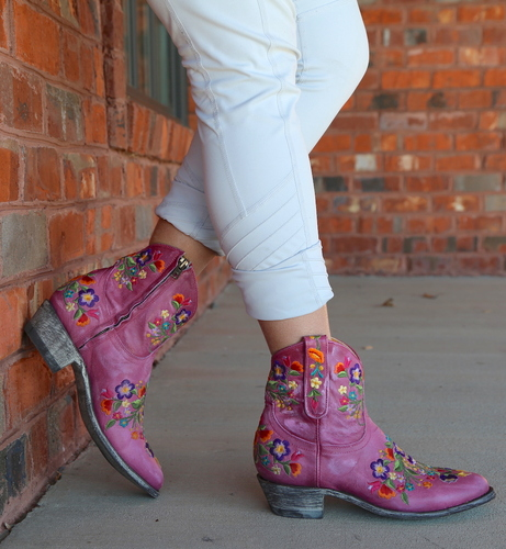 Old Gringo Sora Zipper Pink Booties L871-64 Picture