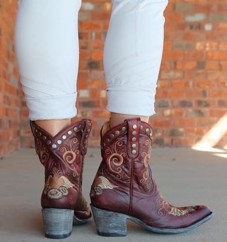 Old Gringo Little G Red Boots L734-7 Heel