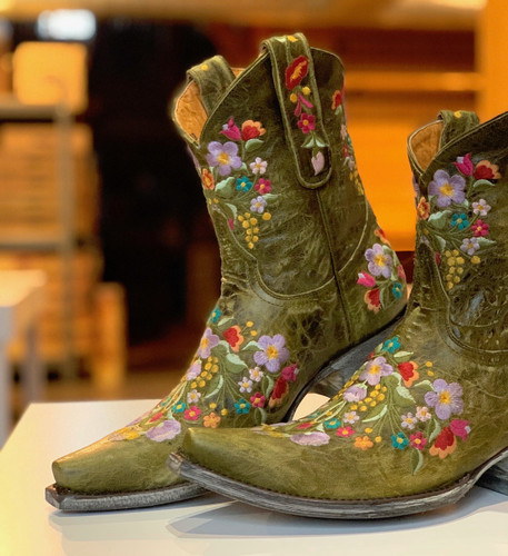 Old Gringo Sora Military Green Boots L841-43 Toe