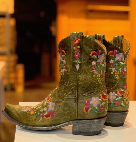 Old Gringo Sora Military Green Boots L841-43 Heel