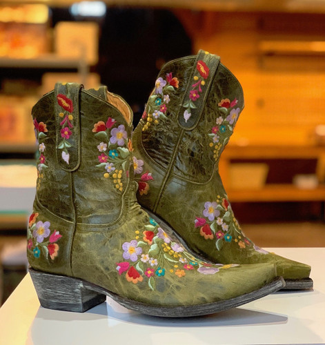 Old Gringo Sora Military Green Boots L841-43 Image