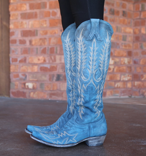Old Gringo Mayra Bis Blue Boots L1213-30 Embroidery