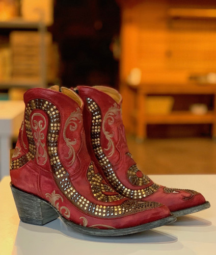 Old Gringo Snake Zipper Red Boots L1177-8 Image