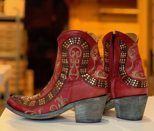 Old Gringo Snake Zipper Red Boots L1177-8 Photo