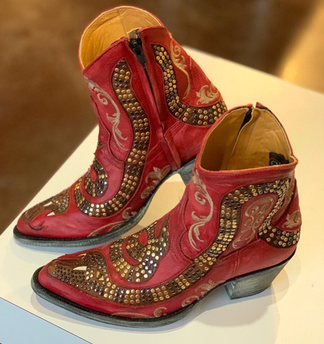 Old Gringo Snake Zipper Red Boots L1177-8 Picture