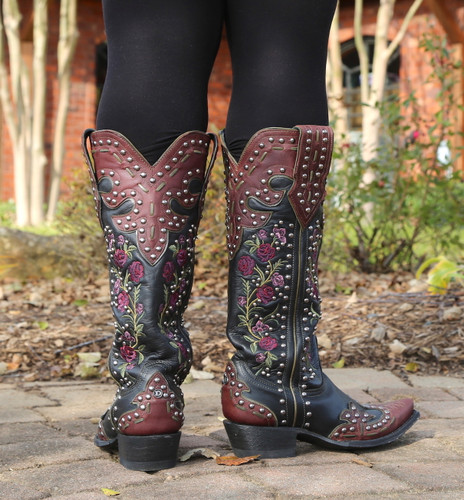 Double D by Old Gringo Round Up Rosie Red DDL054-2 Heel
