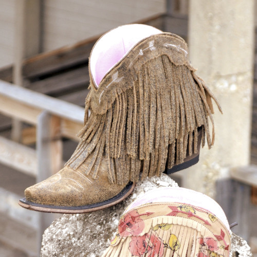 Junk Gypsy by Lane Spitfire Rust Fringe Boots JG0007H Picture