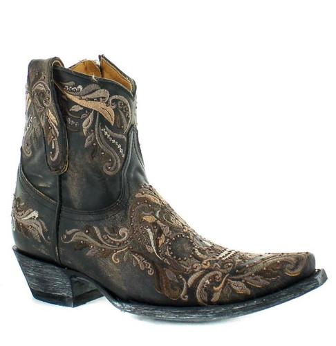 Old Gringo Dulce Calavera Rustic Beige Black Short Zipper Boots BL3233-1 Image