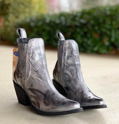 Yippee by Old Gringo Gaucho Stitch Metallic Silver Booties YBL290-1 Toe