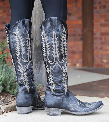 Old Gringo Mayra Bis Dark Ink Blue Boots L1213-25 Heel
