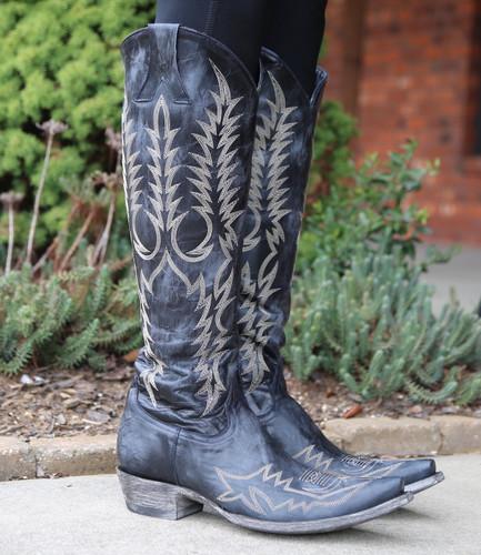 Old Gringo Mayra Bis Dark Ink Blue Boots L1213-25 Stitching