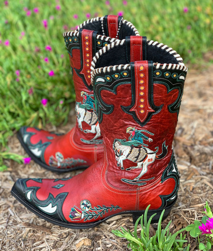 Double D by Old Gringo Cass Red Boots DDL060-1 Detail