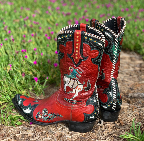 Double D by Old Gringo Cass Red Boots DDL060-1 Heel