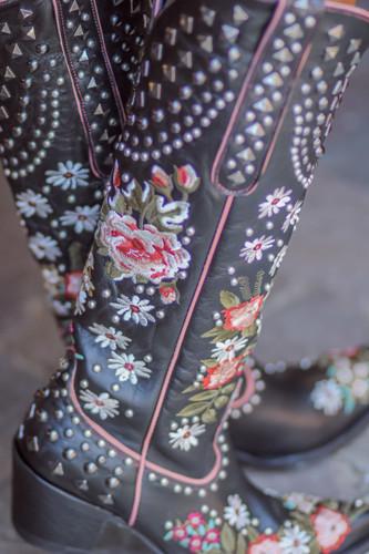 Double D by Old Gringo Backwoods Barbie Black Boots DDL063-2 Photo