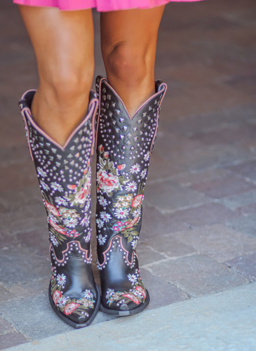 Double D by Old Gringo Backwoods Barbie Black Boots DDL063-2 Image