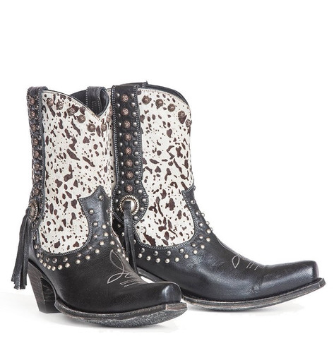 Double D by Old Gringo Forever Country Black White Boots DDBL062-1 Picture