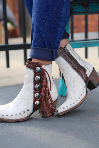 Double D by Old Gringo Apache Kid Taupe Boots DDBL018-6 Detail