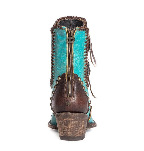 Double D by Old Gringo Stockyards Turquoise DDBL047-2 Heel