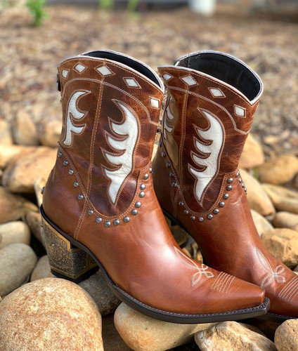 Double D by Old Gringo Cattleman Boots Nut DDBL053-1 Studs