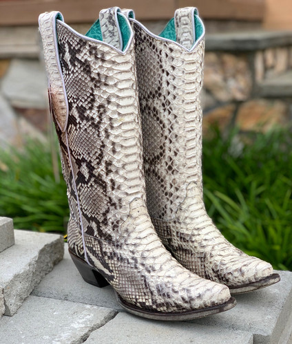 Corral Natural Python Boots A3798 Image