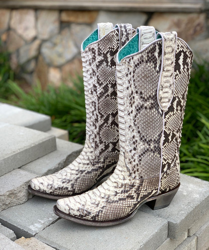 Corral Natural Python Boots A3798 Picture