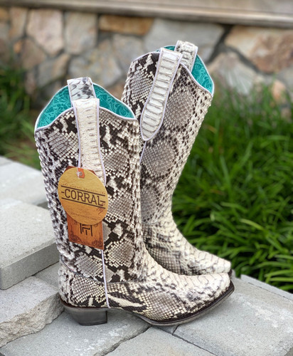 Corral Natural Python Boots A3798 Photo