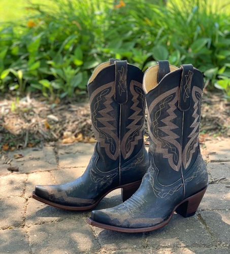 Yippee by Old Gringo Peyton Rustic Beige Black YL347-6 Live Shot